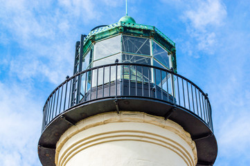 California lighthouse tower with catwalk
