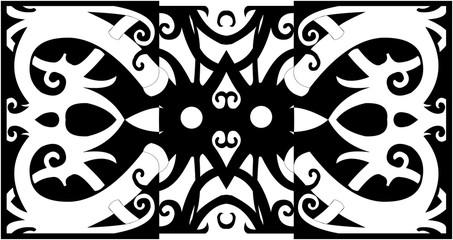 dayak ornament design for tatto