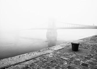 Chain Bridge in fog