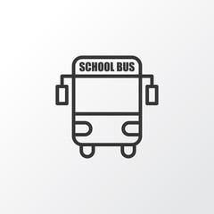 School Bus Icon Symbol. Premium Quality Isolated  Transport Vehicle Element In Trendy Style.