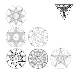 Impossible geometry symbols vector set.