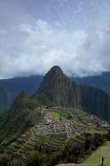 The famous view of Machu Picchu
