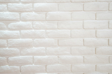 White misty brick wall for background