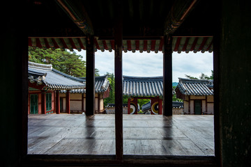 Dosanseowon Confucian Academy is where former scholars and students from Korea studied