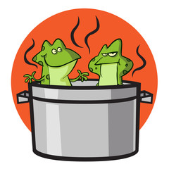 Boiling Frogs In Pot