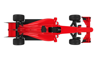 Formula One Race Car Isolated