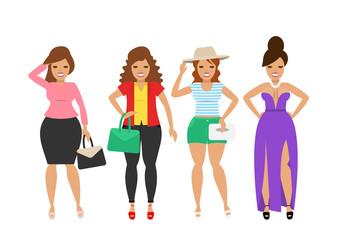 beautiful women in fashion clothes