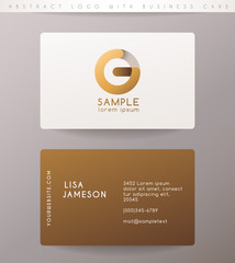 Creative Letter Logo Design with Business Card Template : Vector Illustration