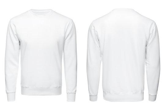 white sweatshirt,, clothes on isolated