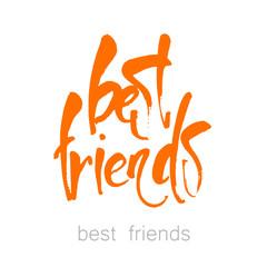 best_friends_lettering