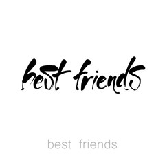 best_friends_lettering