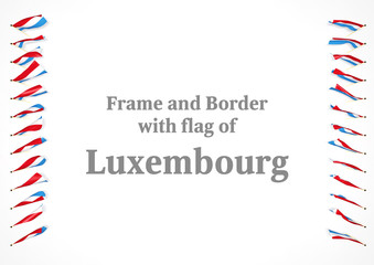 Frame and border with flag of Luxembourg. 3d illustration
