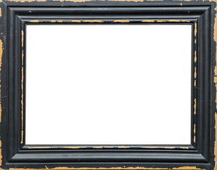 Classic empty picture frame isolated on white background