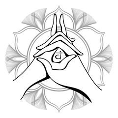 Yoga mudra Vector
