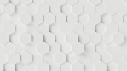 White Hexagon Wall Background