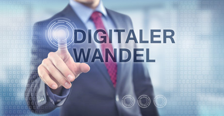 Digitaler Wandel / Businessman