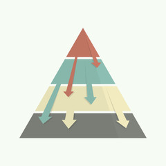 Top down pyramid business strategy