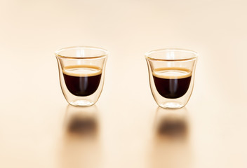 Teasty Espresso in a transparent cup