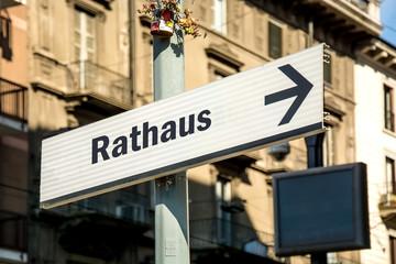 Fototapete - Schild 219 - Rathaus