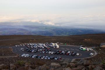 Parking Lot at Haleakala Crater after Sunrise