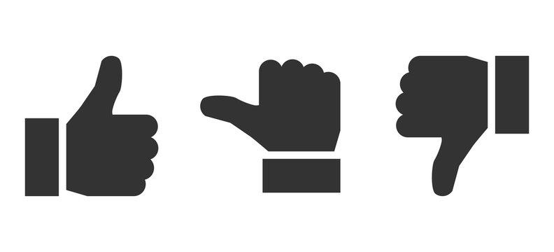 Black valuation thumbs - stock vector