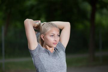 Fitness Frau Outdoor