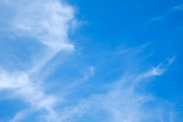 .white cloud blue sky for background and backdrop