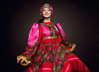 Woman in traditional russian dress