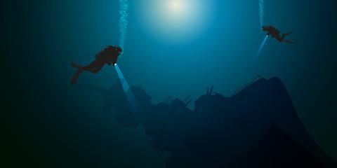 plongée - plongée sous-marine - épave - bateau - naufrage - plongeur
