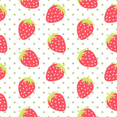 Strawberry Seamless Pattern Vector