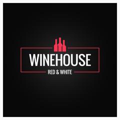wine bottles logo design background