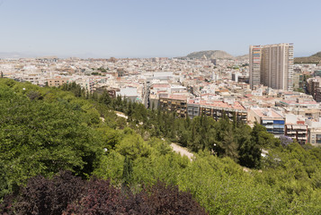 Views of the city of Alicante, Spain.