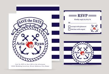 Sea wedding invitations.