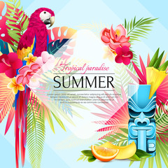 Summer Tropical Paradise Background