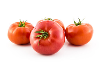 red tomato group  isolated on white background photo. Beautiful picture, background, wallpaper
