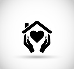 Symbol of secure loving home vector