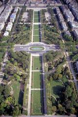 Champ de Mars Paris from Eiffel Tower view