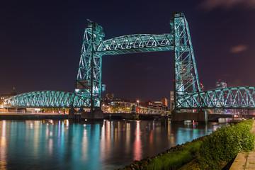 Deurstickers Rotterdam Bridge De Hef in Rotterdam Netherlands