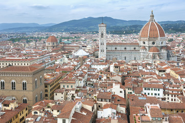 Fotomurales -  Aerial view of Florence, Tuscany, Italy