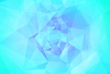 Gradient abstract horizontal triangle background. Cool ice colored polygonal backdrop for business presentation. Soft gradient color transition for mobile application and web. Geometric banner.