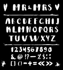 Hand Made Vector Alphabet. Exclusive Custom Letters. Lettering and Custom Typography for Design