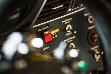 Controls inside cabine car