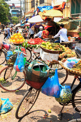 Hanoi Market Bicycles - Vietnam