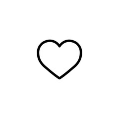 heart, love, cardio icon line black on white