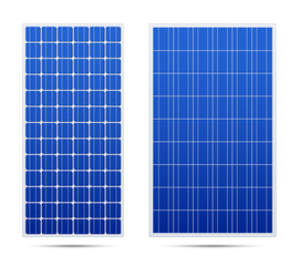 Solar vector panels. Realistic set.