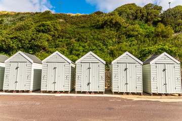 white houses on the beach, whitel door to summer cottages, seaside spot
