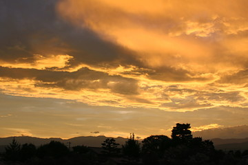 atardecer, Japón, nubes, cielo