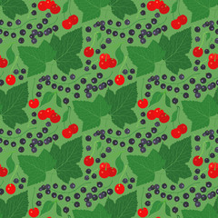 seamless pattern with currant and cherry
