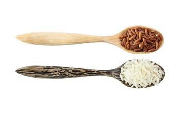 Thai white jasmine rice mixed with brown rice
