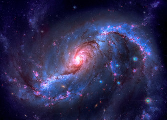 Barred spiral galaxy located in the constellation Dorado. Elements of this image furnished by NASA
